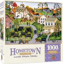 Masterpieces Hometown Gallery Jigsaw Puzzle, Sunday Meeting, Featuring Art by