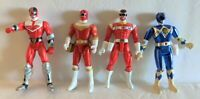 1995 - 2000 Bandai Power Rangers Red and Blue Ranges Action Figures 6 Inch