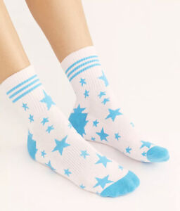 NWT Free People Movement Star Print Dad Tube Socks