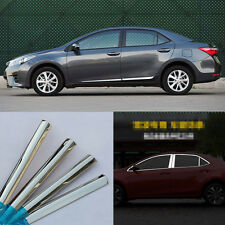 20pcs Stainless Steel Chrome Full Window Frame Sill Trim For Toyota Corolla 2014