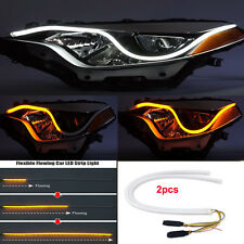 2X60CM Car Flexible Switchback LED Knight Rider Strip Light DRL Sequential
