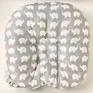 Boppy Original Newborn Lounger, Elephant Love Gray Infant Baby Lounging Pillow
