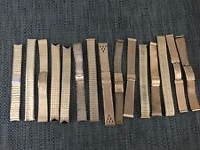 Lot of 15 Vintage Men's Gold Fill and Rolled Gold Top Watch Bands