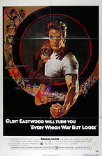 EVERY WHICH WAY BUT LOOSE 1978 Clint Eastwood Sondra Locke US 1-SHEET POSTER