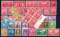 USAstamps Unused VF US Commemoratives Starter Lot OG Mint