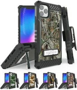 Rugged Tri-Shield Case + Belt Clip for Apple iPhone 11 PRO MAX - Camo Series