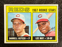 1967 Topps Reds Rookie Stars Lee May Darrell Osteen Card #222 NM-MT RC
