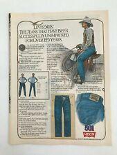 Levi's 501 Levi Strauss & Co. 1982 Vintage Print Ad