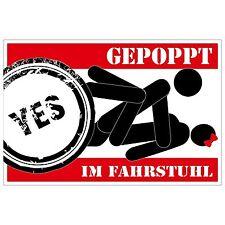 Aufkleber - GEPOPPT im Fahrstuhl - 12 cm - sticker - sex sexy Fun poppen Trend