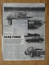 SAAB 99 TURBO 1977 UK Mkt Road Test Brochure