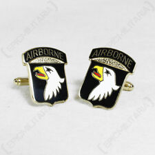 LARGE American Army Cufflinks 101st AIRBORNE DIVISION - WW2 Screaming Eagles