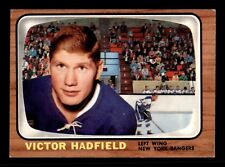 VIC HADFIELD  66-67 TOPPS 1966-67  NO 86 EXMINT+ 12874