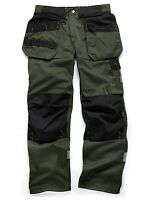 SCRUFFS Trade Work Trousers Forest Green Combat Cargo Site Pants