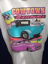Vintage 1994 Hot Rod Cowtown Nationals Kansas City T Shirt Art by Wilbert L