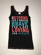 Motherhood Maternity Tank Top Medium Strong Brave Loving
