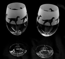 More details for red setter dog gift wine glasses classic tulip shape..boxed