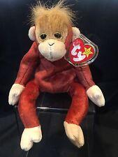 "Ty Beanie Baby ""Schweetheart"" Red Orangutang Monkey 1999 New w/tags"