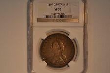 1889 Great Britain 4 Shillings- NGC VF-35.  Nice and original.