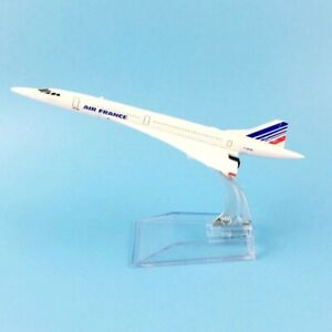 Airplane Model 16cm Concorde Aircraft Model Diecast Metal Plane 1:400 Toy Gift