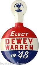 1948 Election ELECT Thomas DEWEY Earl WARREN in '48 Campaign Tab (2927)
