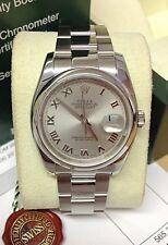 Rolex Datejust 116200 36mm Rodio Romana-b&p 2009-reparado por Rolex!