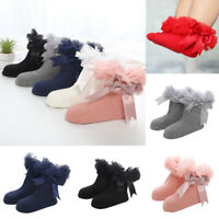 Socks Ruffle Ankle Baby Girls Sock Frilly Kids Trim Princess Bowknot Infant Lace