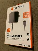 Griffin Charger 3.0 Amp 4 Ft USB-C Cable Android Samsung Galaxy LG Google Pixl