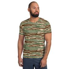 Sri Lankan LTTE Tamil Tigers Cactus Camouflage Men's Athletic T-shirt