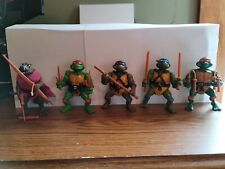 Vintage Ninja Turtles Lot 1988 Playmates Toys Weapon Rack and accessories Incl.