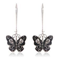 Fashion Women Lady Vintage Punk Gothic Jewelry Butterfly Skull Dangle Earrings