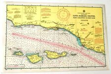 New ListingVintage Santa Barbara Channel Soundings Map + Mariner Knot Flag Whistle Signals