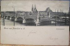 German Postcard FRANKFURT Bridge Panoramic View Germany Waldmann 575 1906