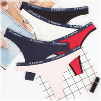 5 Pcs Women's Sexy Cotton Thongs Knickers G-string V-back Panties Underwear,S-XL