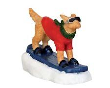 Lemax Figuren - 42222 (121) Snowboarding Dog, Weihnachtsdorf, Modellbau