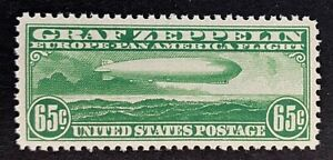 US Stamps, Scott C13 65c 1930 airmail 2019 PSAG GC XF/Sup 95 M/NH. Gorgeous!