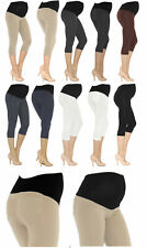 Maternity Capri 3/4 Leggings Cotton Without Or with Pockets Trousers Short