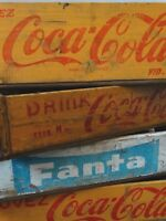 Alte COCA COLA Holzkiste Holzkasten Kiste Vintage 60er shabby retro Kontor