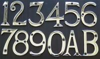"3"" / 75mm CHROME PLATED METAL DOOR NUMBERS 1,2,3,4,5,6,7,8,9,0 + A, B AVAILABLE"