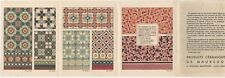 Colorful 1930s Maubeuge Ceramics French Tiles Advertising Brochure