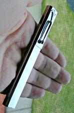 Vintage chrome doctors double thermometer case Caduceus w/pocket clip