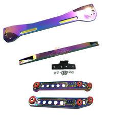 Neo Chrome Rear Lower Control Arm Subframe Brace Tie Bar For 1996-2000 Civic EK