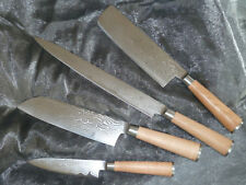Exklusives Messerset aus Damast- Damaszenerstahl - Neu