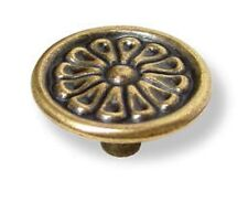 "ANTIQUE BRASS ENGLISH KNOB, DIAMETER: 1-3/8"" (35 MM) HRT-097"