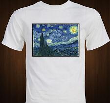Van Gogh Starry Night Famous Impressionist Art T-shirt