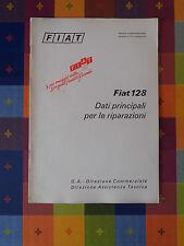 600D - FIAT 128 G. A. DIREZIONE COMMERCIALE DIREZIONE ASSISTENZA TECNICA