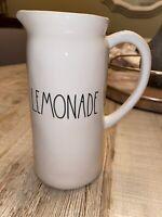 Rae Dunn LEMONADE Pitcher Ceramic Large Letter Ivory Farmhouse by Magenta.