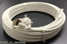 65 FT. (5 STRAND) MEXICAN SADDLE ROPE RIATA CHARRO SOGA COTTON LARIAT ROPE