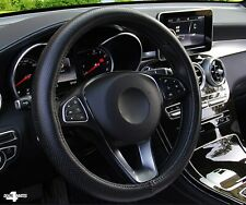 For Vw Golf Polo Black Pu Perforated Leather Steering Wheel Cover Protector Uk
