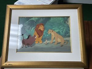 Disney The Lion King Animation Cel Introductions LE 80/500 COA Pumba Timon Nala