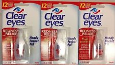 6 PACK OF CLEAR EYES DROPS REDNESS RELIEF 0.2 FL OZ/6mL EXP (02/2020) FREE SHIP
